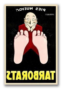 Tarborats - Unusual Vintage Style Foot Cream Advertising Pos