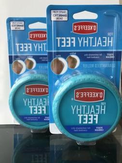 2 x O'Keeffe's For Healthy Feet Foot Cream 3.2 Oz. Jar