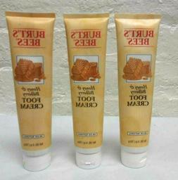3 Pcs ! Burt's Bees Honey & Bilberry Foot Cream 99.0 Natural