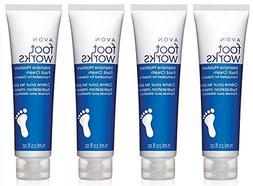 Avon Foot Works Intensive Moisture Foot Cream lot of 4