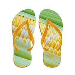 CafePress Corn Closeup - Flip Flops, Funny Thong Sandals, Be
