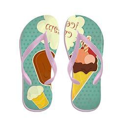 CafePress - Ice Cream Retro Poster - - Flip Flops, Funny Tho