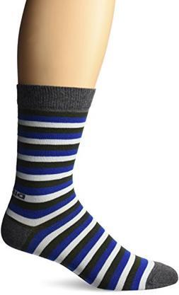 Diesel Men's All Over Pattern Socks, Olive/Blue/Cream Stripe