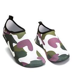 IINFINE Boys Lightweight Water Shoes Soft Barefoot Shoes Qui