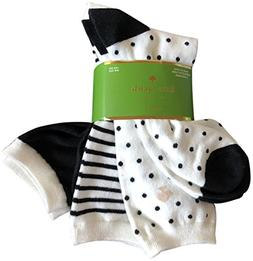 Kate Spade New York Women's Trouser Socks 3 Pack Black White