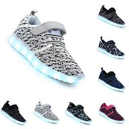 Motaierly Kids Boys Girls Breathable LED Light Up Shoes Flas