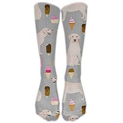 Cananhjs Labrador Ice Creams Cute Dogs Fashion Knee High Gra