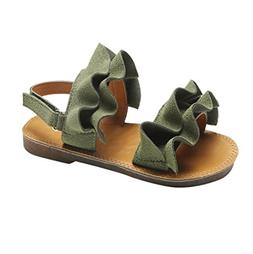 LNGRY Sandals,Toddler Kids Baby Girls Ruffle Ruched Bohemia