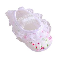 LNGRY Shoes,Toddler Kids Baby Girls Floral Printed Lace Soft