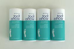 LOT of 4 Avon Foot Works Healthy Deodorizing Foot Powder