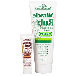 Miracle of Aloe Miracle Rub Pain Relieving Cream with 42% Ul