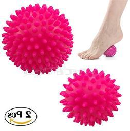 Pack of 2 - Spiky Massage Balls Stress Reflexology Trigger P