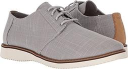 TOMS Men's Preston Nubuck Dress Lace-up, Grey Linen, Size 11