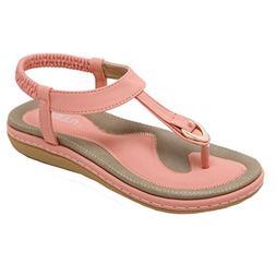 UOKNICE SANDALS Women Fashion Flat Heel Bohemia Lady Slippe