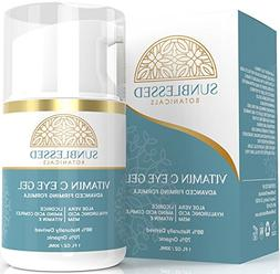 Vitamin C Eye Gel for Under Eye Bags Treatment Dark Circles