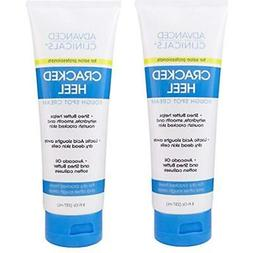 Advanced Clinicals Cracked Heel Cream For Dry Feet, Rough Sp