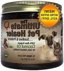 Alpha Pet Zone Coconut Oil for Dogs, Treatment for Itchy Ski