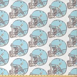Ambesonne American Football Fabric by The Yard, Sketchy Styl