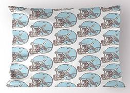 Ambesonne American Football Pillow Sham, Sketchy Style Safet