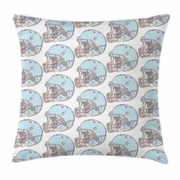 Ambesonne American Football Throw Pillow Cushion Cover, Sket