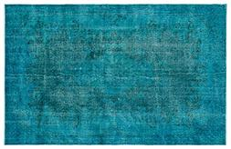 Nakkas Antique Handwoven Vintage Rug Turquoise 6'0'' X 9'5''