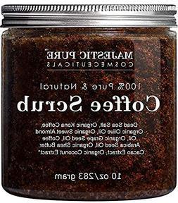 Majestic Pure Arabica Coffee Scrub - All Natural Body Scrub