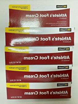 Athlete's Foot Cream, DG Health Lot of 4, 1 OZ ea 1% Tolnaft