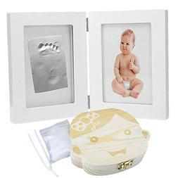 CozyCabin BABY FOOTPRINT PICTURE FRAME KIT with BABT TEETH B