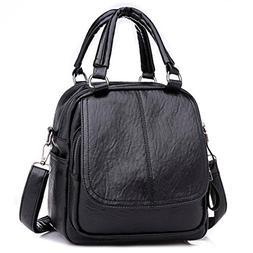Women Girl Backpack,Realdo Fashion Versatile Solid Converted