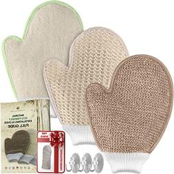 Bath Exfoliating Shower Gloves Health Set! 3 Scrubber Exfoli