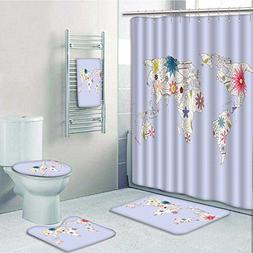 VROSELV 5-piece Bathroom Set-PlayroomStyle Map with Soft Pas