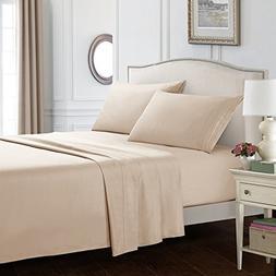 Dreaming Casa Bed Sheet Set- Brushed Microfiber Comfortable,