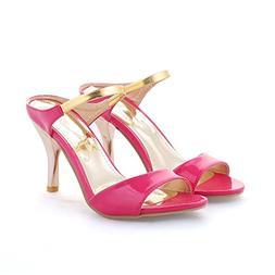 Huntty Big Size 34-43 High Heels Beach Sandals Pink 10