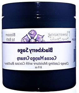Flowersong Blackberry Sage Cocoa Mango Body Cream - Deep Las