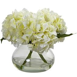 Nearly Natural® Blooming Hydrangea with Vase