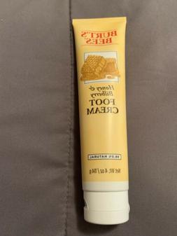 BRAND NEW BURT'S BEES Honey & Bilberry Foot Cream 4 oz Ful