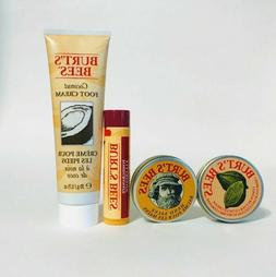 Burt's Bees Foot Cream+ Lip Balm+ Hand Salve+ Cuticle Cream