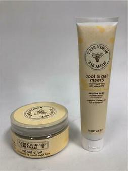Burt's Bees Mama Bee Belly Butter 6.5 oz & Foot Cream 3.38 o