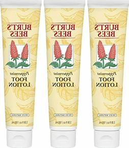 Burt's Bees Peppermint Foot Lotion - 3.38 Ounce Tube - Pack