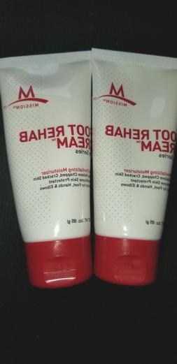 Collectible   Mission Foot Rehab Cream 2 x 3 oz,   exp 10/14