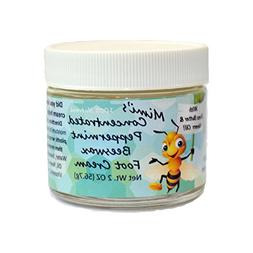 Mimi's Concentrated Peppermint Beeswax Foot Cream, 2 OZ jar
