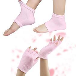 cotton moisturizing gloves socks set