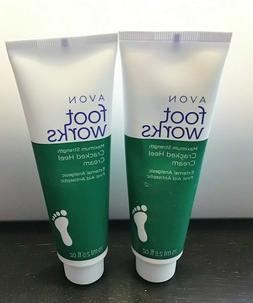 Avon Cracked Heel Cream Foot Works  Lot of 2 New