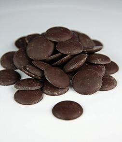 Dark Black Cocoa/Cacao Butter Chocolate Wafers Unrefined Org