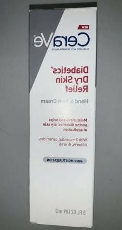 CeraVe Diabetics' Dry Skin Relief Hand - Foot Cream 3 oz