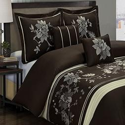 Duvet Cover Set and Pillowcases 5 Piece Luxury 100 Cotton Zi