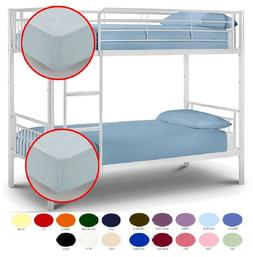 Easy Care Plain Dyed Bunk Bed Fitted Sheet 2 Foot 6 Inch Sma