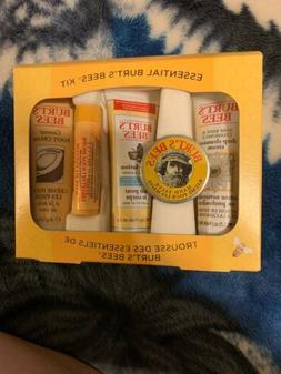 Essential Burt's Bees Travel Kit Balms & Lotions - Qty 5 Ite