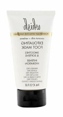 WHISH Exfoliating Foot Mask  Full Size 2.5 oz. New in Box Pa