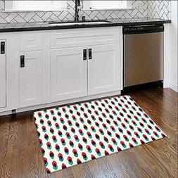 Extra Thick Comfortable Rug Geometric Retro Curve Pattern Gr